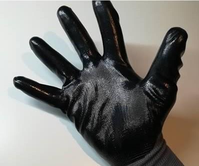 guanti tecnici in nitrile neri