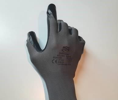 guanti tecnici neri in nitrile